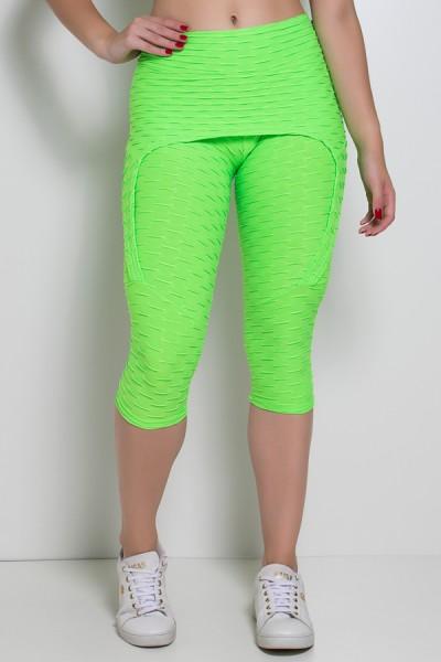 Corsário Aranha Tecido Bolha Fluor (Verde Limão Fluor) | Ref: KS-F378-001