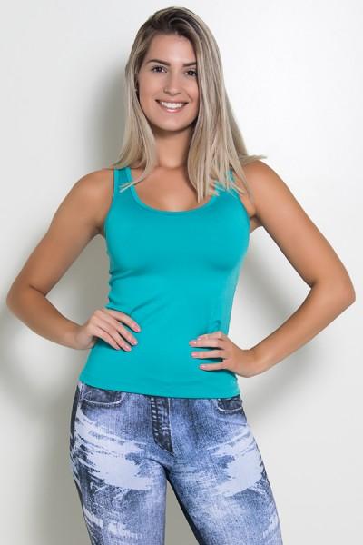 Camiseta Fitness Júlia Suplex (Verde Esmeralda) | Ref: KS-F39-003
