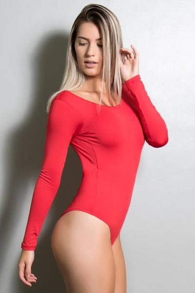 Body Luana Costa Aberta (Vermelho) | Ref: KS-F418-003