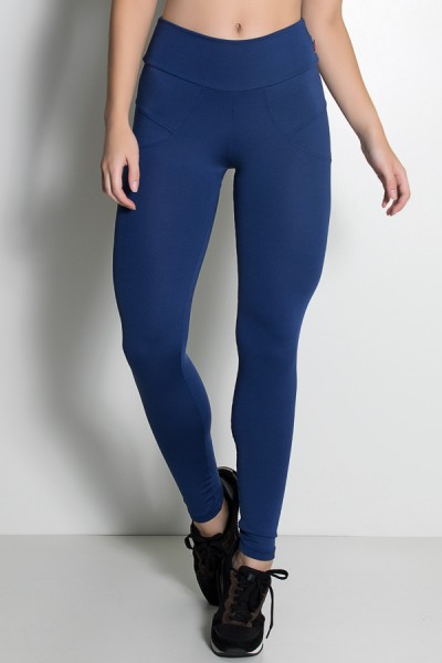 Calça Legging Levanta Bumbum (Azul Marinho) | Ref: KS-F432-003
