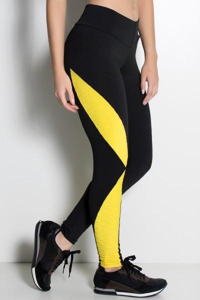 Calça Leona Lisa com Detalhe Tecido Bolha | Ref: KS-F475