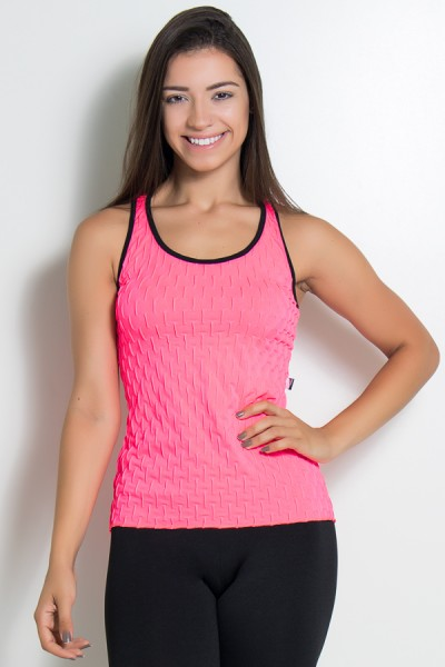 Camiseta Denise Tecido Bolha Fluor | Ref: KS-F502