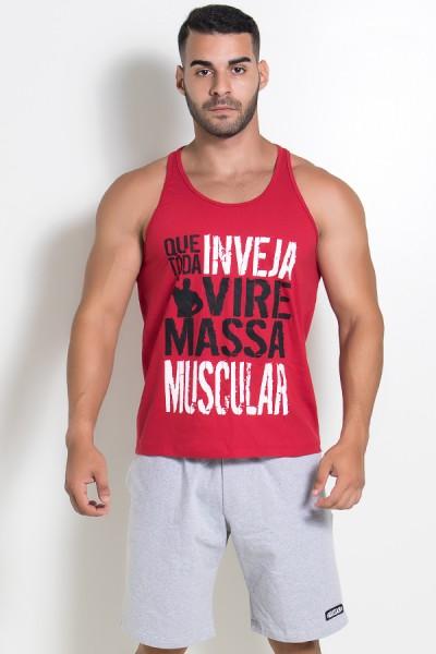 Camiseta Regata (Que Toda Inveja Vire Massa Muscular) (Vermelho) | Ref: KS-F520-003