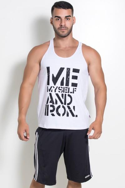 Camiseta Regata (Me Myself And Iron) (Branco) | Ref: KS-F523-001