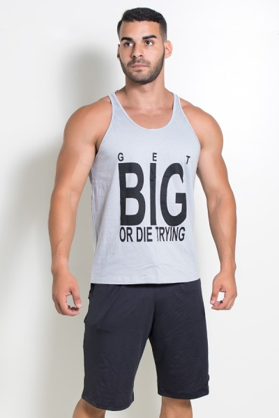 Camiseta Regata (Get Big Or Die Trying) (Cinza) | Ref: KS-F529-004