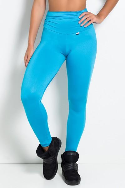 Calça com Bolso e Cós Franzido (Azul Celeste) | Ref: KS-F629-001