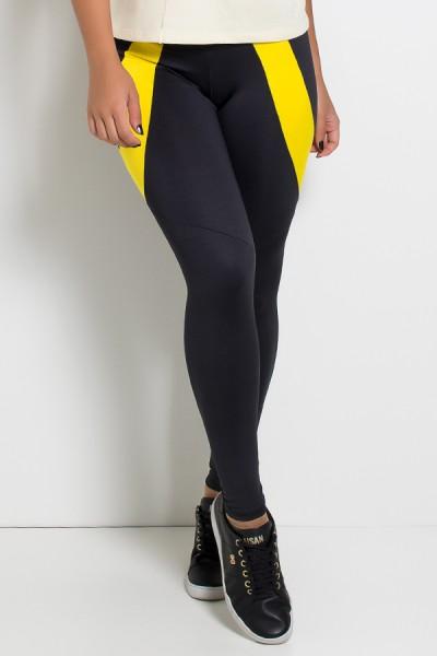 Calça Babi 2 Cores (Preto / Amarelo) | Ref: KS-F637-002