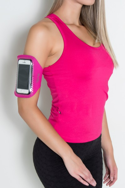 Braçadeira Pequena Lisa para Celular (Rosa Pink)   Ref: KS-F665-003