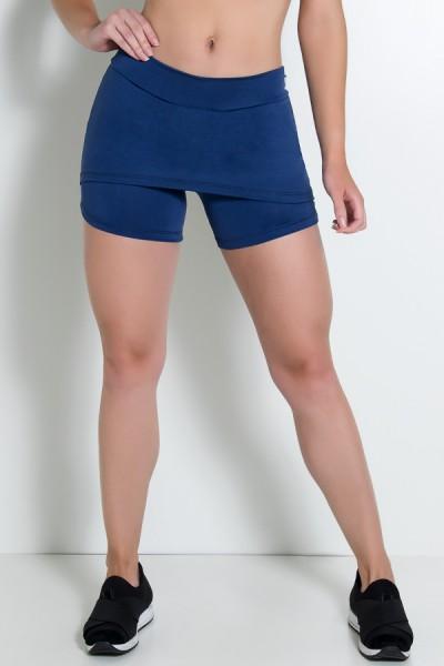Short Saia Tapa Bumbum Liso (Azul Marinho) | Ref: KS-F71-005