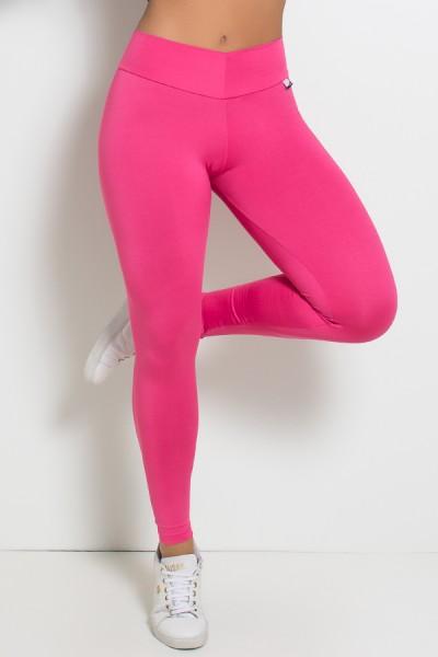 Calça Amanda com Cós em V (Rosa Pink) | Ref: KS-F712-001