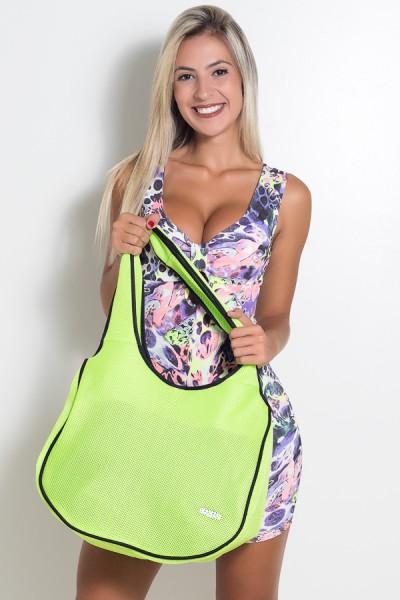 Bolsa Fitness Verde Limão Fluor | Ref: KS-F781-008