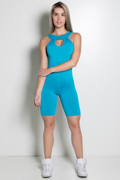 Macaquinho Fitness Andreza (Azul Celeste) | Ref: KS-F88-001