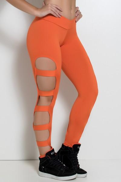 Calça Legging Rasgada (Laranja) | Ref: KS-F98-002