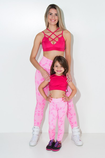 Kit com 5 (cinco) Leggings Infantis Estampadas com Costura Lateral (Cores Variadas) (M) | Ref: KS-KI04-002