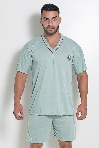Pijama Mas. Curto 070 (Verde Claro)