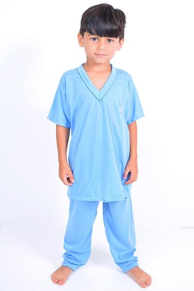 Pijama infantil masculino 103 (Azul)