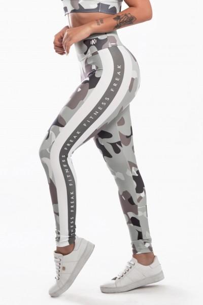 Calça Legging Sublimada Shades of Gray Camo   Ref: K2299-A