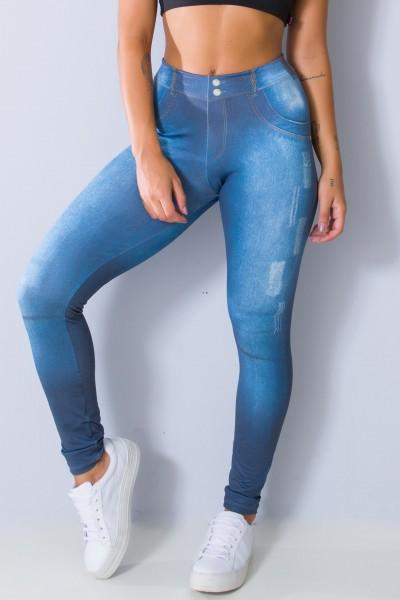 Legging Jeans Escura Sublimada | Ref: KS-F1033-001