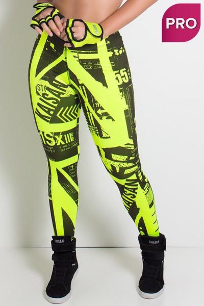 Legging Sublimada PRO (Britanic Amarelo Neon) | Ref: NTSP13-002