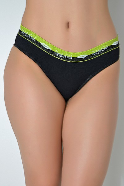 Kit com 5 cuecas femininas - Cotton liso 030