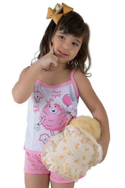 Babydoll de Malha Infantil 035 (Rosa) | Ref.: CEZ-PA035-006