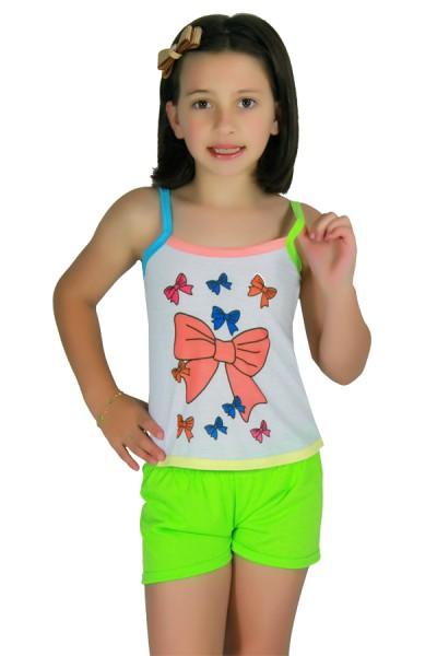 Babydoll Infantil com alcinha colorida 233