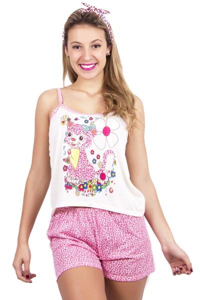 Pijama de Malha Tema de Oncinha