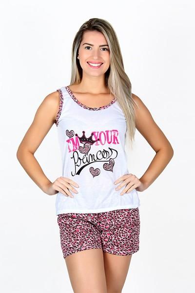 Babydoll Feminino 228 (Pink coroa)