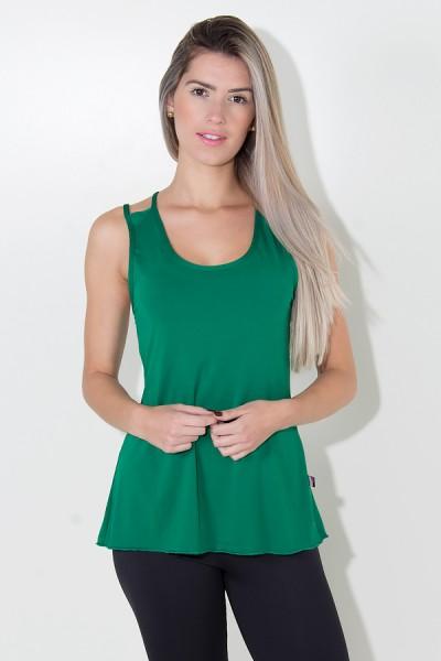 Camiseta de Microlight Nadador com Alça Dupla (Verde Bandeira) | Ref: KS-F1022-002
