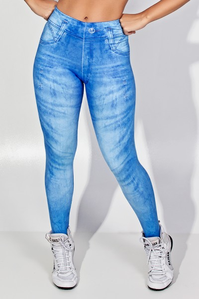 Legging Blue Jeans Sublimada