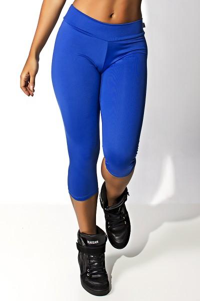 Calça Corsário Suplex (Azul Royal)