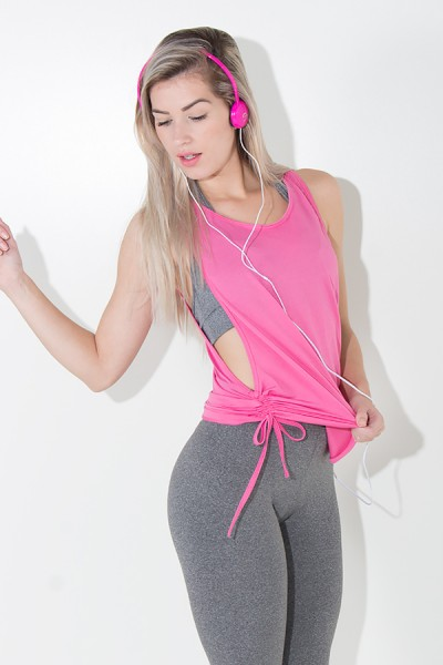Camiseta Dry Fit com Regulagem Lateral (Rosa Pink) | Ref: KS-F936-005