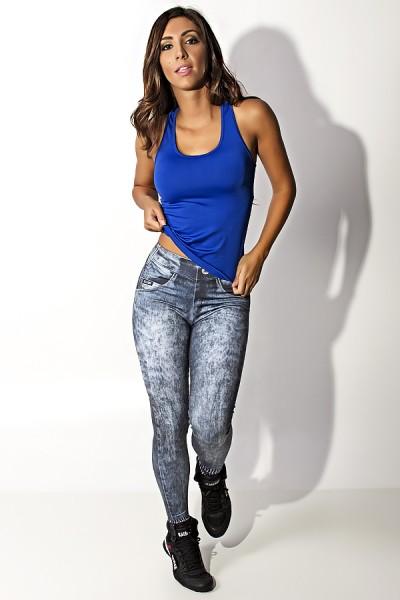 Camiseta Fitness Júlia Suplex (Azul)