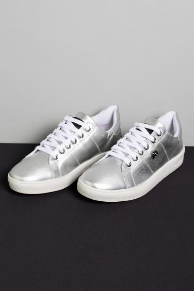 Tênis Mini Sneaker com Cadarço (Prata) | Ref: K1S-T42-004