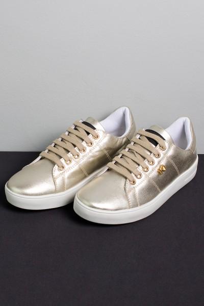 Tênis Mini Sneaker com Cadarço (Dourado) | Ref: KS-T42-005