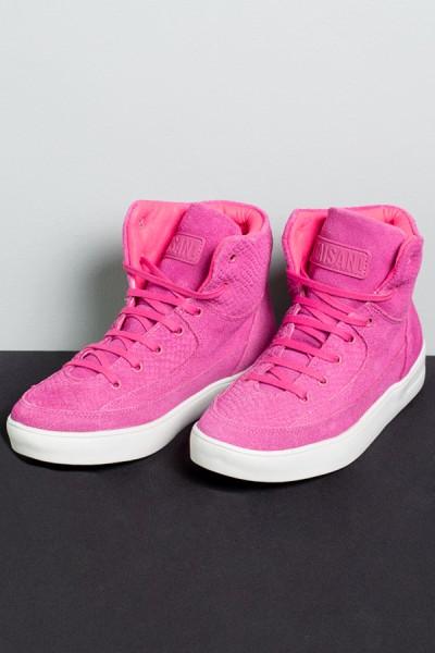 Sneaker Camurça Pink com Sola Branca | Ref: KS-T51-002