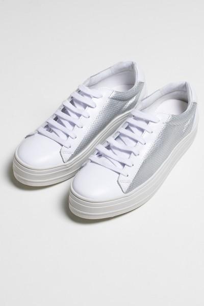 Tênis Confort (Branco / Prata) 783-03 | Ref: KS-T82-001