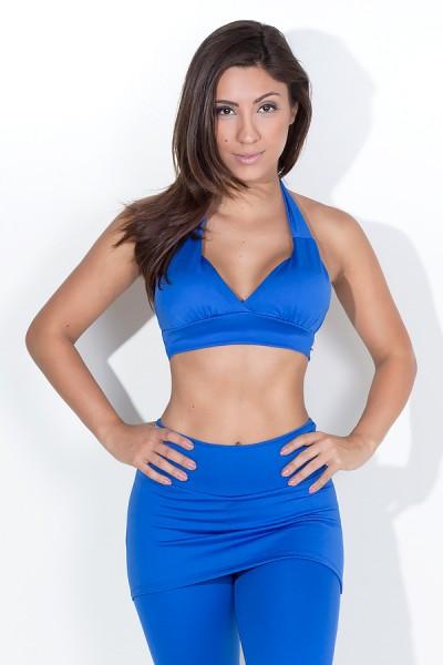 Top Diana Liso com Bojo (Azul Royal) | Ref: F1278