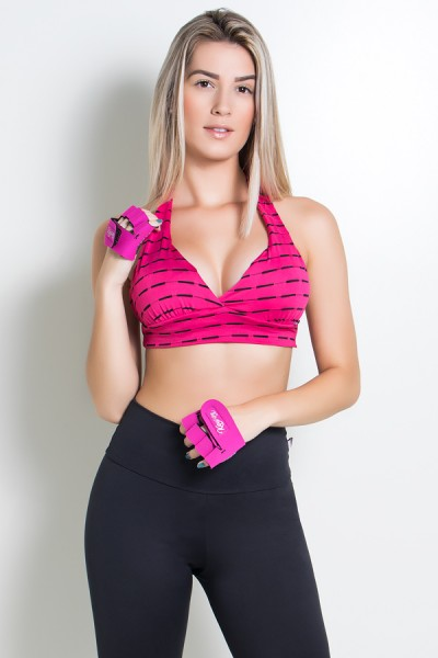 Top Power Mesh com Corte Horizontal | Ref: F1019
