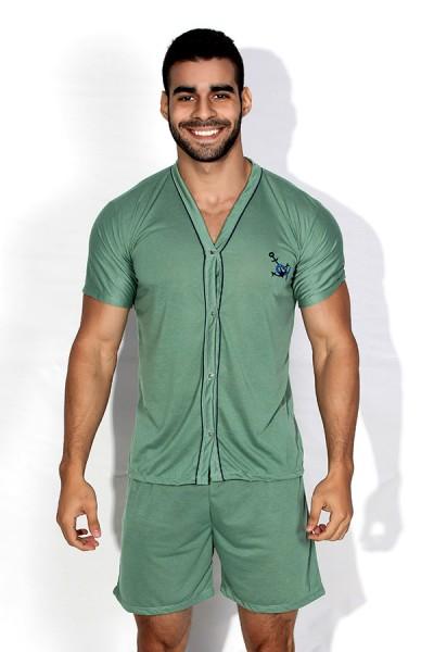 Pijama Mas. de Botão 168 (Verde)