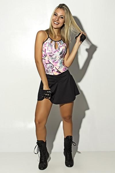 Vestido Sabrina Tenista (Folhas com Fluor) | Ref: F1503