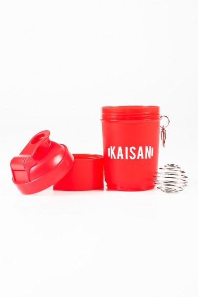 Coqueteleira com Mola de 500 ML com 1 Compartimento (Vermelho Fumê) | Ref: KS-CK03-004