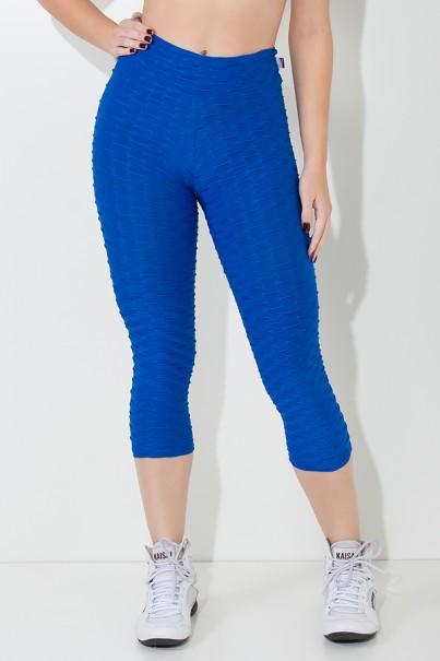 Calça Corsário Tecido Bolha (Azul Royal)   Ref: KS-F105-006