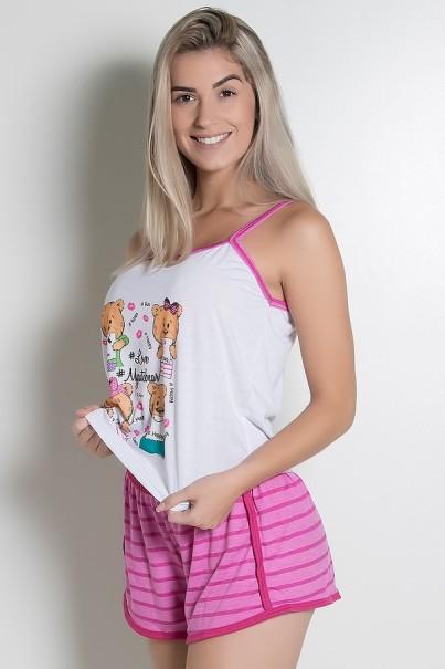 CEZ-PA054-008_Babydoll_Feminino_054_Pink_com_Ursinho_CEZ-PA054-008