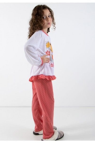 CEZ-PA185-003_Pijama_longo_de_Malha_Infantil_185_Goiaba__Ref:_CEZ-PA185-003