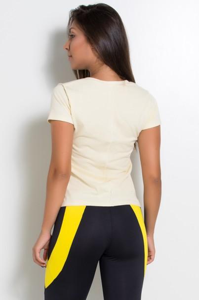 KS-F1034-005_Camiseta_de_Malha_com_Ponto_de_Cobertura_Amarelo__Ref:_KS-F1034-005