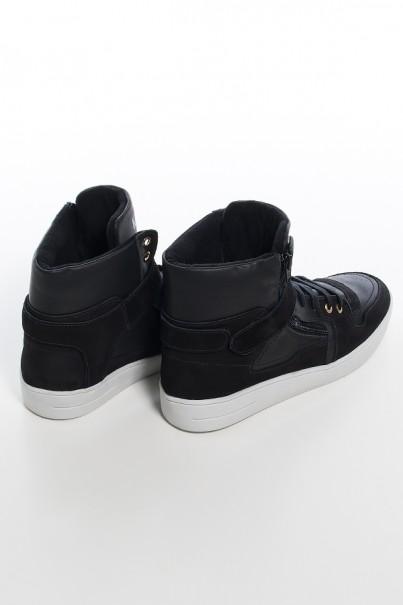 KS-T36-001_Sneaker_Unissex_Preto_com_Sola_Branca__Ref:_KS-T36-001