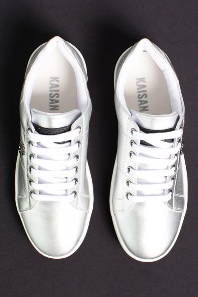 KS-T42-004_Tenis_Mini_Sneaker_com_Cadarco_Prata__Ref:_KS-T42-004