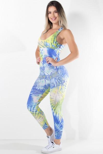 KS-F202-001_Macacao_Fitness_Viviane_Folhagem_Verde_Limao_e_Azul__Ref:_KS-F202-001