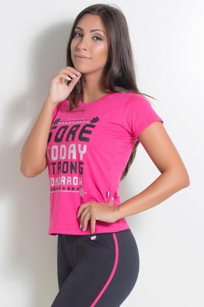 KS-F226-001_Camiseta_Feminina_Sore_Today_Strong_Tomorrow_Rosa_Pink__Ref:_KS-F226-001